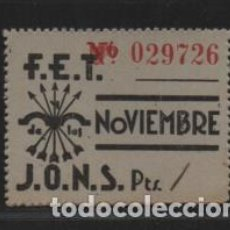 Sellos: F.E.T. J.O.N.S. CUOTA- Nº EN ROJO- VER FOTO. Lote 206496622
