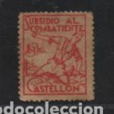 Sellos: CASTELLON- 1 PTA- SUBSIDIO AL COMBATIENTE- VER FOTO. Lote 206498828