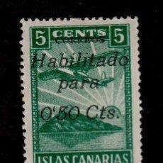 Sellos: 0114 GUERRA CIVIL ISLAS CANARIAS - FESOFI 21 VARIEDAD CON PIE DE IMPRENTA 50 CENT. VERDE OSCURO NO. Lote 206538536