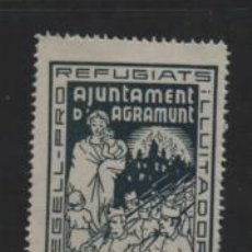 Selos: AGRAMUNT- 50 CTS. VERDE SIN NUMERACION- PRO REFUGIADOS- SOFIMA Nº 5.- VER FOTO. Lote 206580528