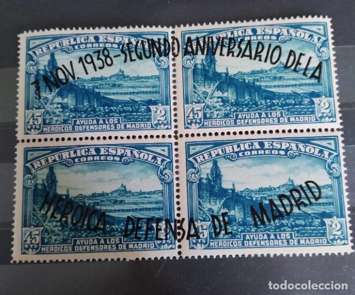 SERIE SELLOS II ANIVERSARIO DE LA DEFENSA DE MADRID ESPAÑA (Sellos - España - Guerra Civil - De 1.936 a 1.939 - Nuevos)