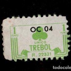 Sellos: 0143 VIÑETA DE ALMACENES UNICO TREBOL DE 1 PUNTO. REFERENCIA 22331. Lote 206955793