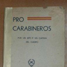 Sellos: PRO CARABINEROS POR UN JEFE Y UN CAPITAN DEL CUERPO SEVILLA ABRIL DE 1937. Lote 207011398