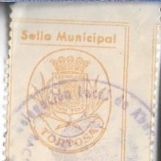 Sellos: SELLO MUNICIPAL TORTOSA (TARRAGONA) 1 PESETA. Lote 207165723