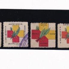 Sellos: 5 VIÑETAS DIFERENTES FRENTES Y HOSPITALES. VIZCAYA, GUIPUZCOA, ALAVA. Lote 207260587