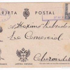 Sellos: TAREJTA POSTAL CENSURA MILITAR POTES. DE POTES A CABEZON DE LA SAL 1938. Lote 207263043