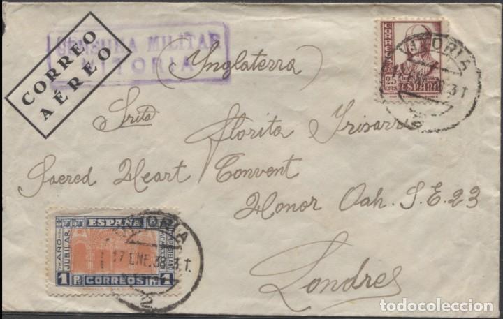 1938 SOBRE DIRIGIDO A FLORITA IRISARRI EN LONDRES (LEER INFORMACIÓN EN EL INTERIOR) (Sellos - España - Guerra Civil - De 1.936 a 1.939 - Cartas)