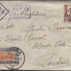 Sellos: 1938 SOBRE DIRIGIDO A FLORITA IRISARRI EN LONDRES (LEER INFORMACIÓN EN EL INTERIOR). Lote 207297843