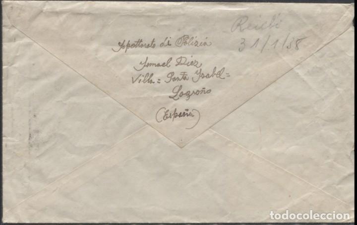 Sellos: 1938 SOBRE DIRIGIDO A FLORITA IRISARRI EN LONDRES (Leer información en el interior) - Foto 2 - 207297843