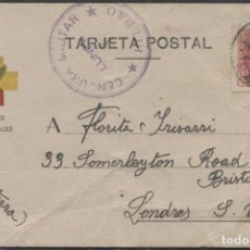 Sellos: 1938 TARJETA DE FRENTES Y HOSPITALES A FLORITA IRISARRI (LEER INFORMACIÓN EN INTERIOR). Lote 207298843