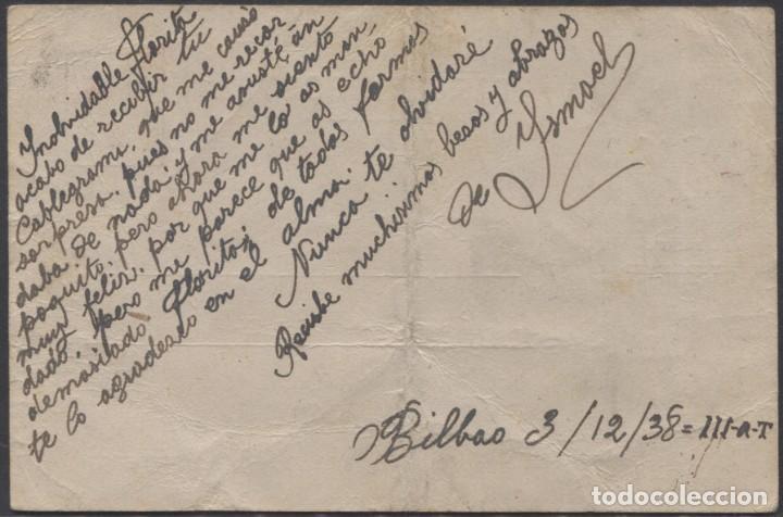Sellos: 1938 TARJETA DE FRENTES Y HOSPITALES a FLORITA IRISARRI (Leer información en interior) - Foto 2 - 207298843
