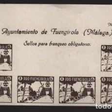 Sellos: FUENGIROLA-MALAGA- CABECERA HOJA SIN DENTAR- PRO-FUENGIROLA- VER FOTO. Lote 207364267