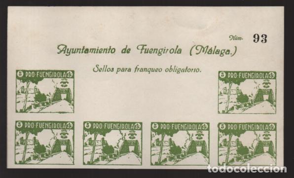 FUENGIROLA-MALAGA- CABECERA HOJA SIN DENTAR- PRO-FUENGIROLA- VER FOTO (Sellos - España - Guerra Civil - Locales - Nuevos)