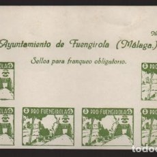 Sellos: FUENGIROLA-MALAGA- CABECERA HOJA SIN DENTAR- PRO-FUENGIROLA- VER FOTO. Lote 207364308