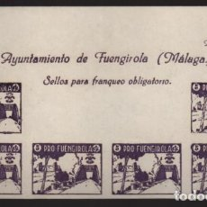 Sellos: FUENGIROLA-MALAGA- CABECERA HOJA SIN DENTAR- PRO-FUENGIROLA- VER FOTO. Lote 207364331