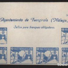 Sellos: FUENGIROLA-MALAGA- CABECERA HOJA SIN DENTAR- PRO-FUENGIROLA- VER FOTO. Lote 207364367