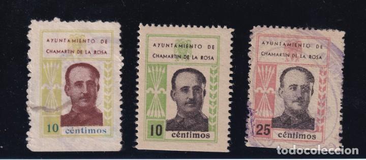CHAMARTIN DE LA ROSA. 3 VALORES FRANCISCO FRANCO (Sellos - España - Guerra Civil - De 1.936 a 1.939 - Usados)