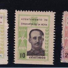 Sellos: CHAMARTIN DE LA ROSA. 3 VALORES FRANCISCO FRANCO. Lote 207544328