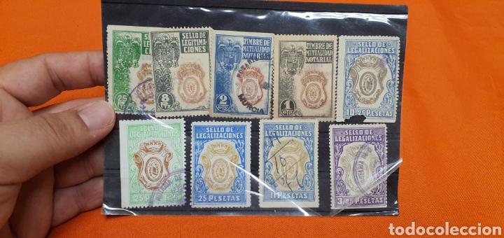 Sellos: Lote sellos fiscales, legitimaciónes, mutualidad notarial y legalizaciones, diferentes valores - Foto 2 - 208208605