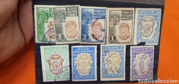 Sellos: Lote sellos fiscales, legitimaciónes, mutualidad notarial y legalizaciones, diferentes valores - Foto 3 - 208208605