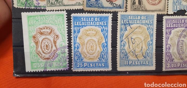 Sellos: Lote sellos fiscales, legitimaciónes, mutualidad notarial y legalizaciones, diferentes valores - Foto 6 - 208208605
