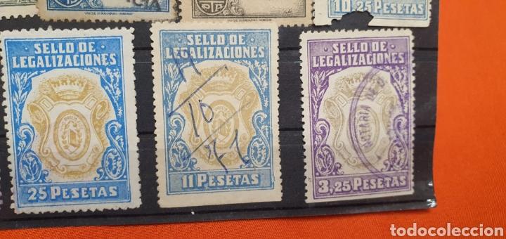Sellos: Lote sellos fiscales, legitimaciónes, mutualidad notarial y legalizaciones, diferentes valores - Foto 7 - 208208605