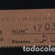 Sellos: F.E.T. J.O.N.S. CUOTA. 5 PTAS,- VER FOTO. Lote 208335061
