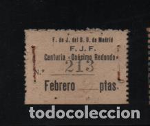MADRID.-F.DE D.U. -F.J.F. CENTURIA-ONESIMO REDONDO- VER FOTO (Sellos - España - Guerra Civil - Viñetas - Usados)