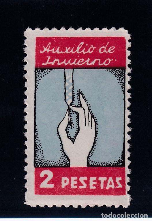 AUXILIO DE INVIERNO 2 PESETAS. NUEVO CON GOMA (Sellos - España - Guerra Civil - De 1.936 a 1.939 - Nuevos)