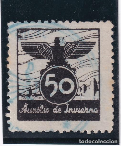 AUXILIO DE INVIERNO 50 CTS (Sellos - España - Guerra Civil - De 1.936 a 1.939 - Usados)