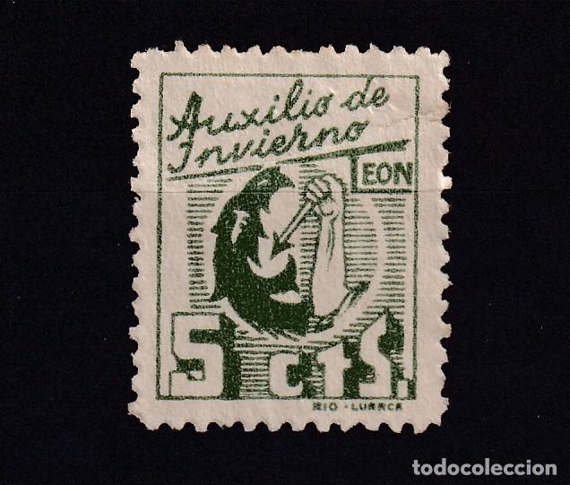 AUXILIO DE INVIERNO LEON 5 CTS VERDE (Sellos - España - Guerra Civil - De 1.936 a 1.939 - Nuevos)