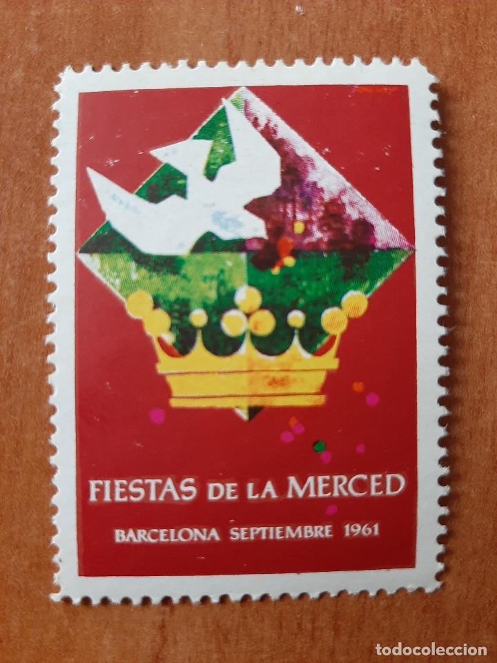 SELLO FIESTAS DE LA MERCED - BARCELONA, 1961 (Sellos - España - Guerra Civil - Viñetas - Nuevos)