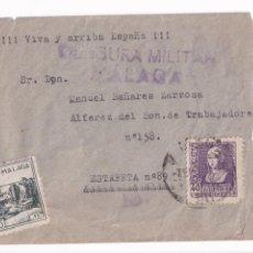 Sellos: MALAGA. CORREO CAMPAÑA A BATALLON TRABAJADORES 158. Lote 208822320