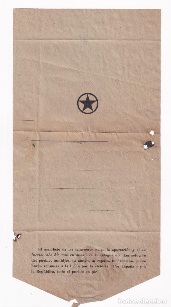 SOBRE CARTA PARTIDO COMUNISTA (Sellos - España - Guerra Civil - De 1.936 a 1.939 - Cartas)