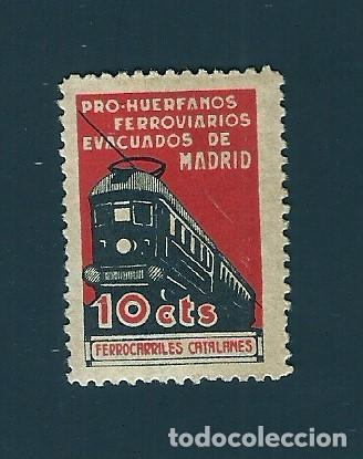 V1-3 GUERRA CIVIL MADRID PRO HUERFANOS DE FERROVIARIOS (FERROCARRILES CATALANES) FESOFI Nº 39 VALOR (Sellos - España - Guerra Civil - Locales - Nuevos)