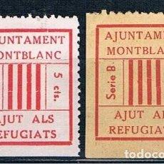 Selos: ESPAÑA MONTBLANC AJUT DE GUERRA MH* FOTOGRAFIAS DOS TIPOS. Lote 209717705