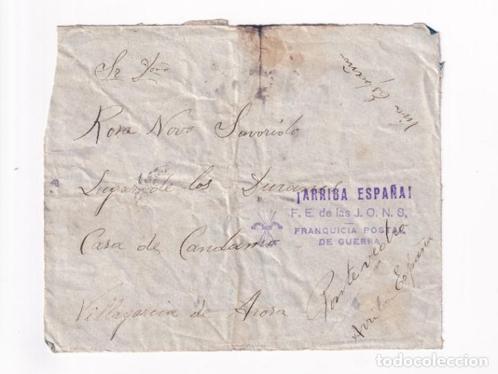 FRONTAL FRANQUICIA POSTAL DE GUERRA FALANGE (Sellos - España - Guerra Civil - De 1.936 a 1.939 - Cartas)