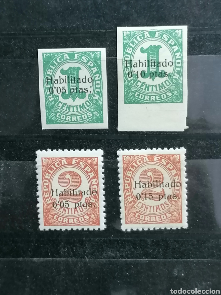 Sellos: España Guerra Civil Edifil 677,678 Emitidos con sobrecarga en Baleares 1938 - Foto 2 - 223311070