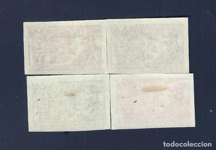 Sellos: V1-6 Guerra Civil REQUETES Galvez nº 4-7 SIN DENTAR Serie Completa fijasellos. - Foto 2 - 210056377
