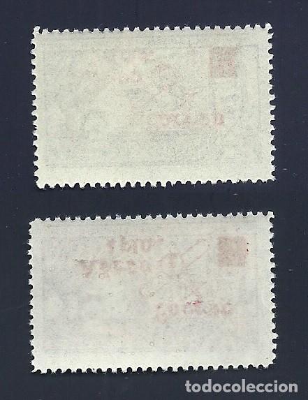 Sellos: V1-6 Guerra Civil REQUETES Galvez nº 20a-21a Serie Completa con Sobrecarga ROJA sin fijasellos. - Foto 2 - 210067761
