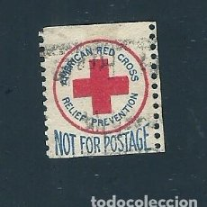 Sellos: V1-3 VIÑETA ESTADOS UNIDOS CRUZ ROJA RELIEF PREVENTION NOT FOR POSTAGE SIN VALOR USADA. Lote 210068011