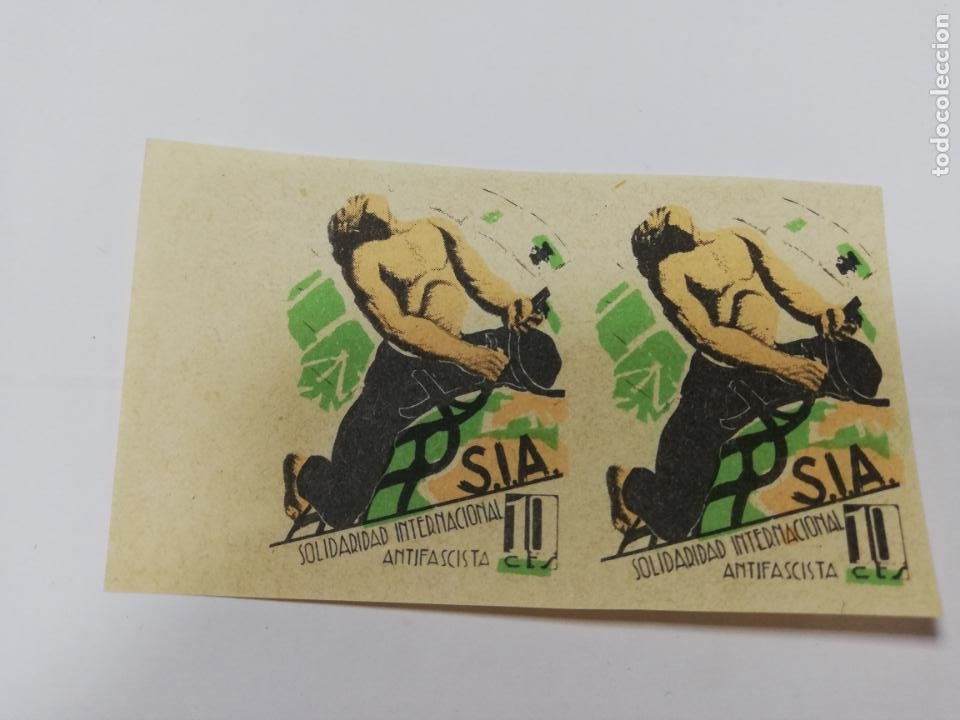 SOLIDARIDAD INTERNACIONAL ANTIFASCISTA. NUEVO. VER FOTOS. (Sellos - España - Guerra Civil - De 1.936 a 1.939 - Nuevos)