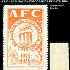 Sellos: VIÑETA -A.F.C - AGRUPACIÓN FOTOGRÁFICA DE CATALUÑA 1923/1958 - REF1035. Lote 210331627