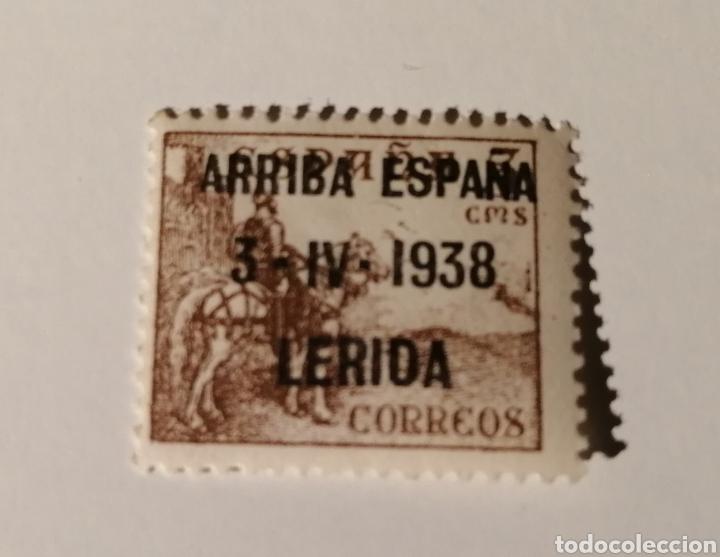 LÉRIDA. ARRIBA ESPAÑA. 1938. 5 CÉNTIMOS (Sellos - España - Guerra Civil - Locales - Usados)