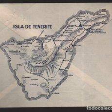 Sellos: CARTA DE PUBLICIDAD,- ISLA DE TENERIFE- REVERSO-. PLANO CIUDAD- VER FOTO. Lote 210371190
