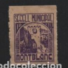 Sellos: MONTBLANC.- 10 CTS,- SEGELL MUNICIPAL- VER FOTO. Lote 210374605