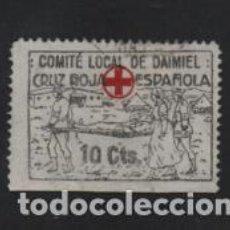 Sellos: DANIEL- 10 CTS- NEGRO- CRUZ ROJA ESPAÑOLA.- VER FOTO. Lote 210375250