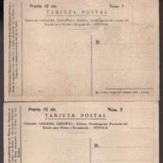 Sellos: SEVILLA-POSTALES SERIE DEL 1 AL 20- COMPLETA.- ARRIBA ESPAÑA- VALOR 10 CTS. VER FOTOS. Lote 210376310