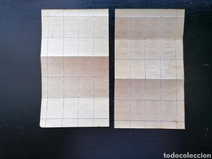 Sellos: España Guerra Civil Beneficiencia Edifil 21 hoja cortada original de 80 sellos nuevo - Foto 2 - 210397965
