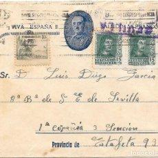 Sellos: EDIFIL 841 - 817. SOBRE CIRCULADO DE SEVILLA A FALANGISTA EN LA ESTAFETA DE CAMPAÑA 93.. Lote 210466443